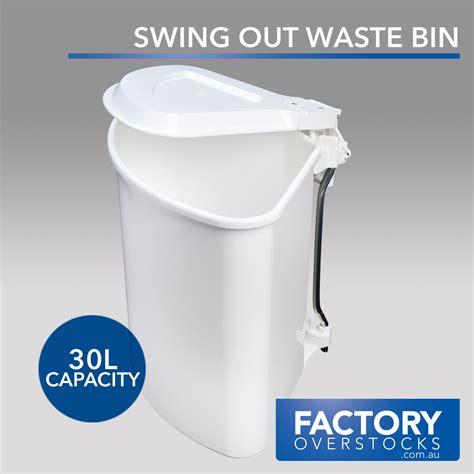 swing out waste bin 30l swing out waste bin concealed kitchen rubbish garbage