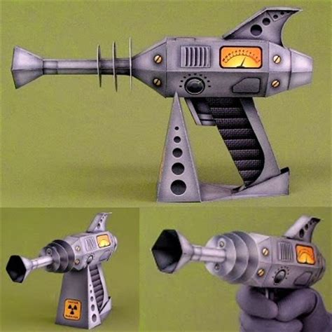 paper craft gun retro gun papercraft
