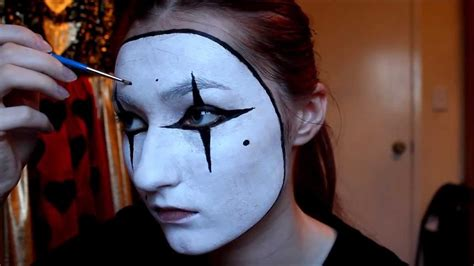 tutorial makeup mime easy french mime costume makeup facepaint tutorial youtube