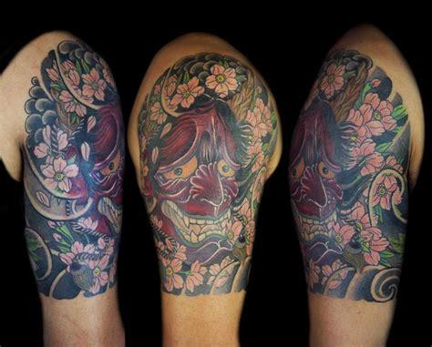 hannya mask tattoo half sleeve 21 great hannya shige tattoos