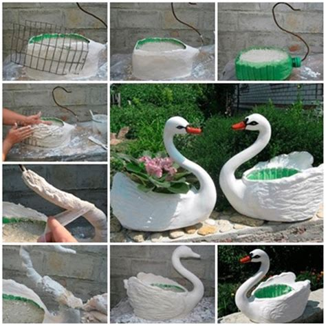 Diy Plastic Planter by Wonderful Diy Swan Pot Planter Out Of Plastic Bottles