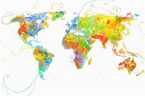 Wall Sticker Map Of The World awesome collection of creative world map remakes