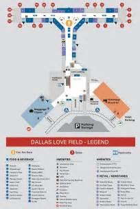 Dallas Love Field Terminal Map by Dallas Love Field Airport Map