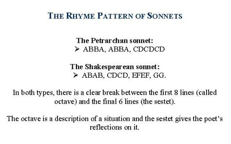 sonnet examples the development of the form of sonnets