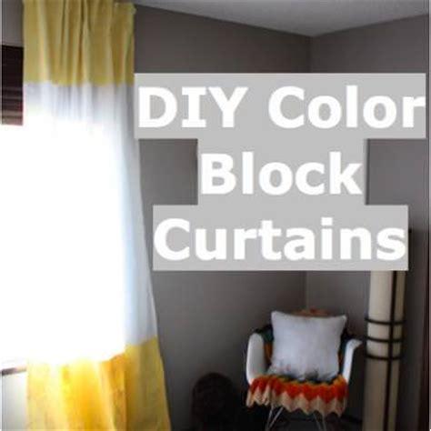 color block curtains diy color block curtain diy drapes tip junkie