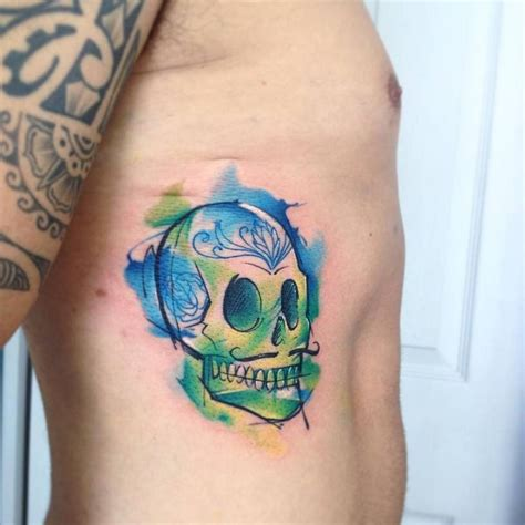 watercolor sugar skull designs ideas and meaning