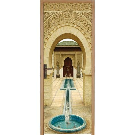 porte fontaine sticker pour porte plane fontaine orientale d 233 co