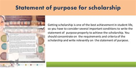 Scholarship Goals Statement Sle Statement Of Purpose Of Any For You Sle