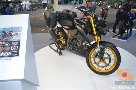 Guard Acerbis Buat Stang Bar Pitihhitamhijau Modifikasi Suzuki Gsx S 150 Buat Biker Turing Plus Sidebox