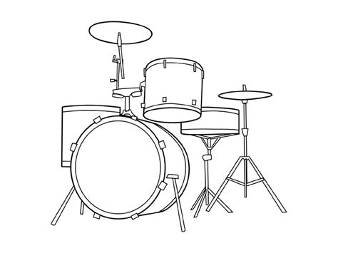 free coloring pages of musical instruments