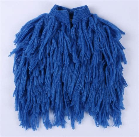 Handmade Vests - suzykids handmade blue cardigan jacket fur vest