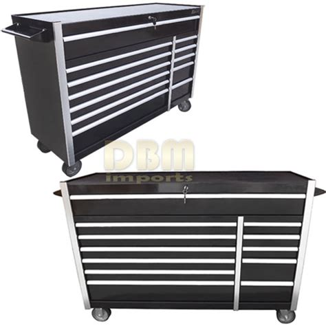 hd 56 roller metal tool cabinet with 12 bbs drawers