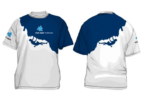 T Shirt X 02 club alpine mulhouse t shirts bluehair interaction