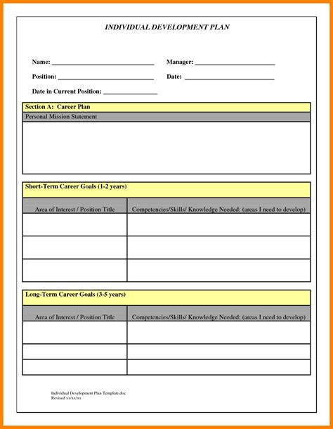employee development plan template 8 employee development plan template homed