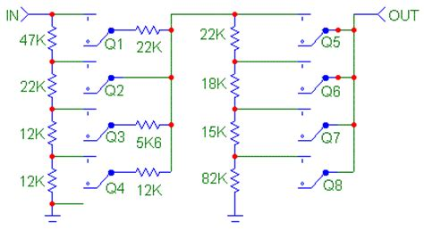 resistor networks are sometimes used as volume circuits resistor switch networks for audio volume