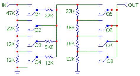 resistor network volume resistor switch networks for audio volume