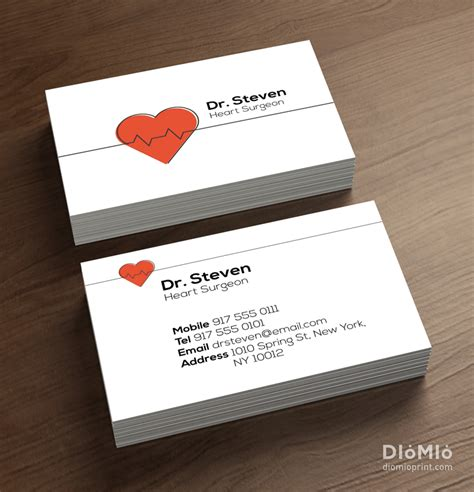 doctor visiting card design templates doctor business cards diomioprint