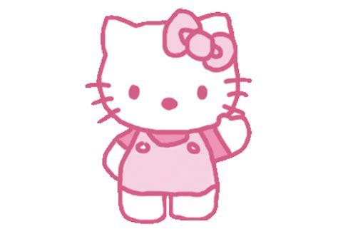 gambar ml gerak gambar hello kitty animasi bergerak lucu caption
