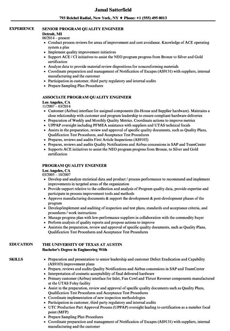 test engineer sample resume unique quality engineer resume