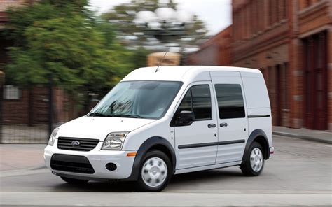 2012 Ford Transit Connect by 2012 Ford Transit Connect Front Three Quarters In Motion