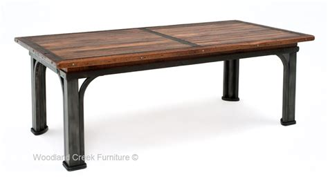 rustic metal and wood dining table industrial rustic dining table