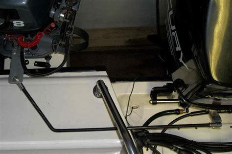 bowfishing boat kicker motor connect main motor steering to kicker the hull truth