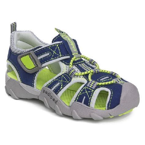pediped baby shoes pediped flex navy lime sandals wanderers