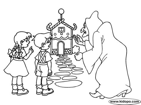 Hansel And Gretel 2 Coloring Page Hansel And Gretel Coloring Page