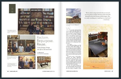 home design magazine fargo inspired home magazine mar april 2014 grain designs