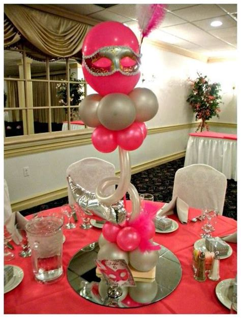 Quinceaneras Centerpieces Balloon Centerpiece With 17 Best Images About Balloon Centerpieces On