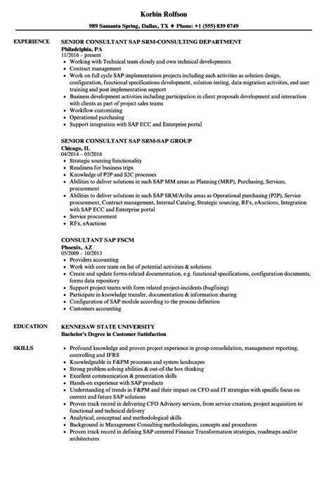 procurement consultant sle resume sap support cover letter