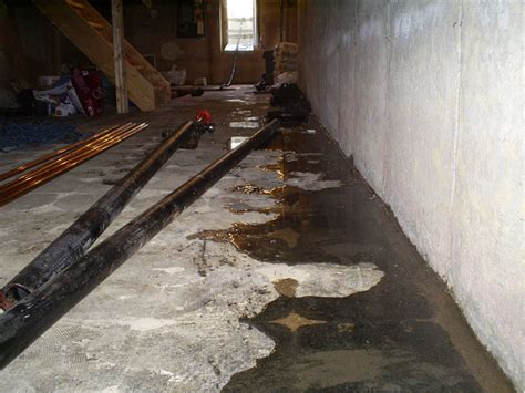 Sealing Cracks In Concrete Basement Floor by Basement Waterproofing Cold Joint Seepage Leaking Floor