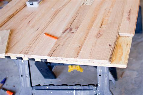 hardwood floor topped table tutorial