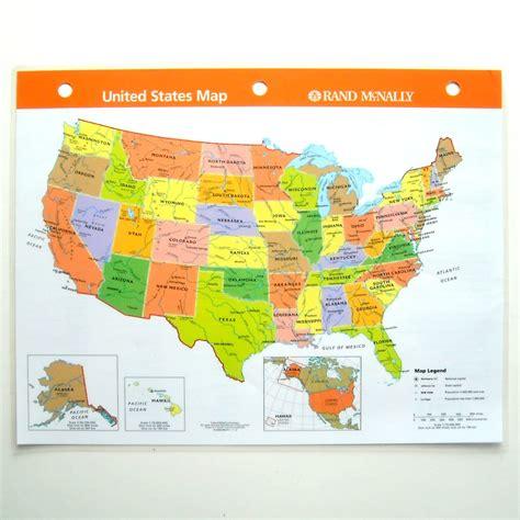 map usa rand mcnally united states reference map laminated rand mcnally