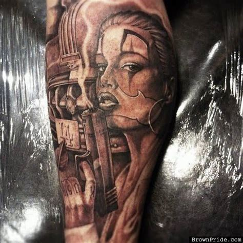 cholo tattoos gangster ideas and gangster designs page 18
