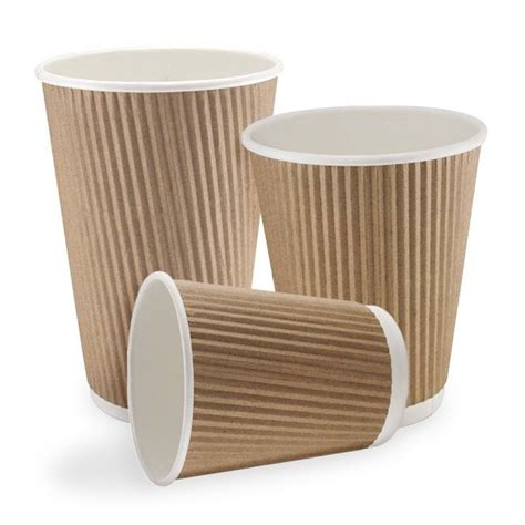 coffee cups kraft cups double wall ripple coffee cups and lids