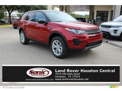 land rover discovery 2016 red 2016 firenze red metallic land rover discovery sport hse