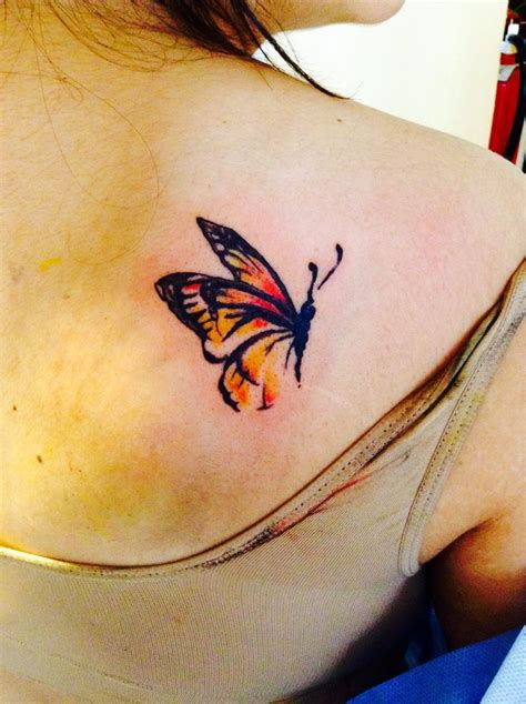 small red watercolor butterfly tattoo tattoomagz com
