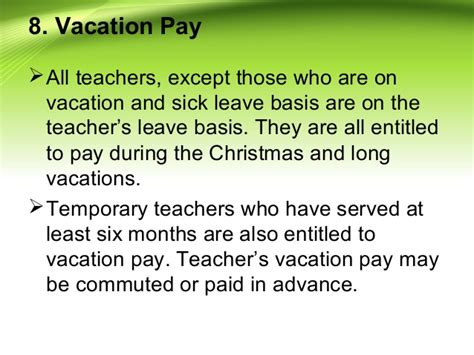 Advance Letter For Vacation Privileges Of Teaching Personnel In And Schools
