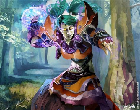 Wow Detox Monk by Wow Card Undead Mage By Vandrell On Deviantart