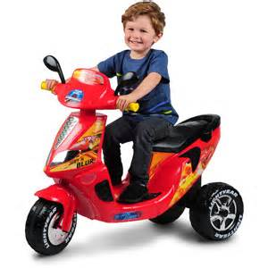 Lightning Powered Car Disney Cars Lightning Mcqueen 3 Wheel Scooter 6 Volt