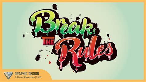 typography tutorial illustrator youtube graphic design text effect typography style break the
