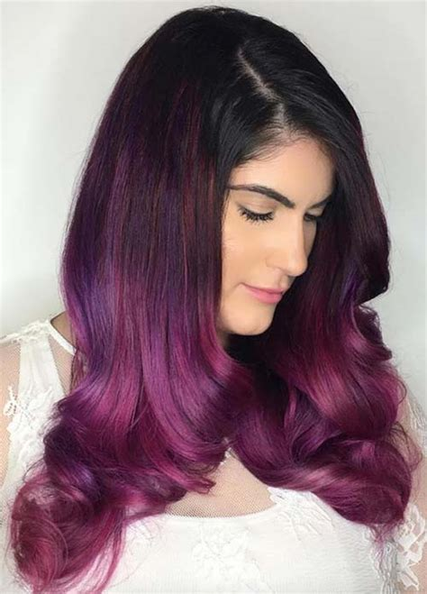 black purple hair color 100 hair colors black brown