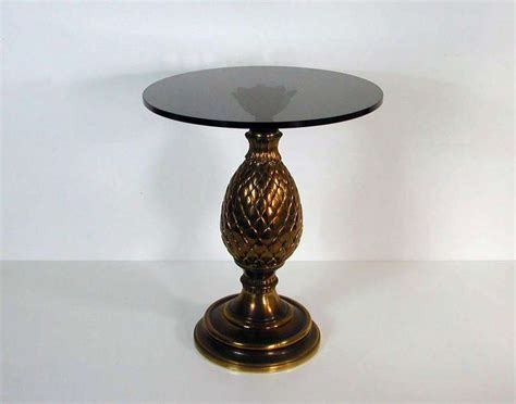 Pinecone Table L by Italian 1950s Bronze And Glass Pine Cone Side Table