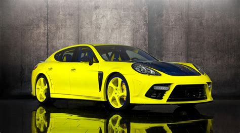 yellow porsche panamera 2011 porsche panamera bright yellow edition by mansory