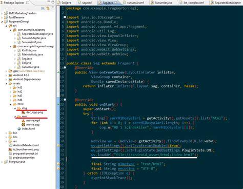layoutinflater youtube notlarimdan android i 231 inde webview kullanarak html