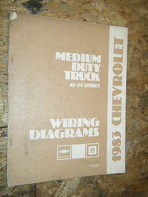 chevy medium duty trucks   series wiring diagram manual ebay