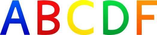 letter grades abcdf free clip