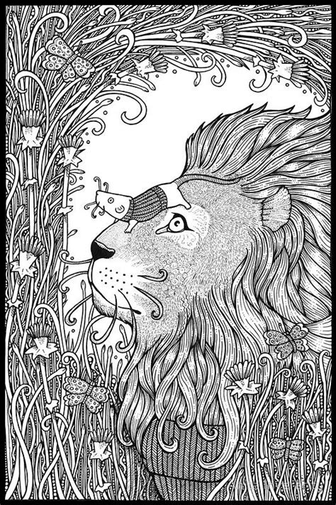 coloring pages the lion and the mouse the lion and the mouse by anita inverarity on redbubble