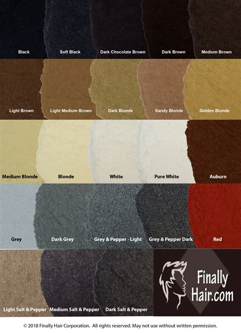 different colors of brown finally hair color chart brown black auburn grey